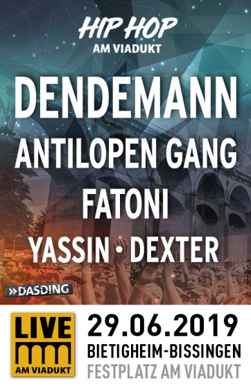 Hip Hop am ViaduktDendemann, Antilopen Gang, Fatoni & weitere