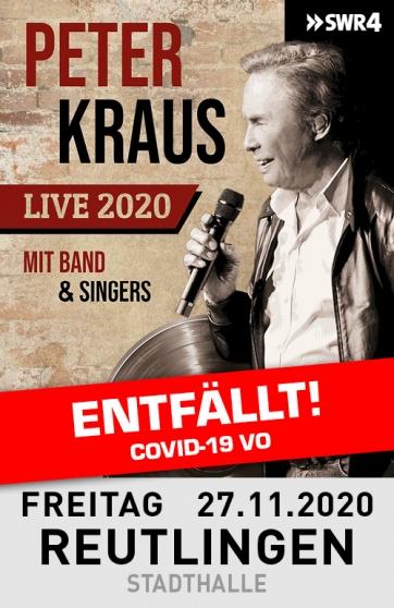Peter Kraus - Live 2020 mit Band & Singers (RT)