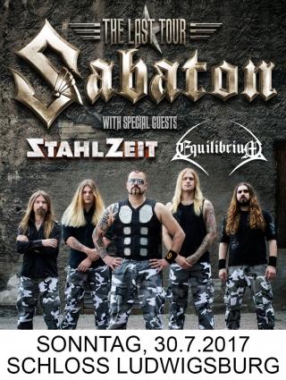 Sabaton mit Support Stahlzeit & Equilibrium
